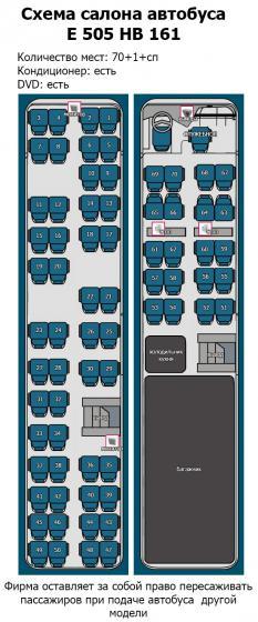 Расположение мест в автобусе мерседес схема